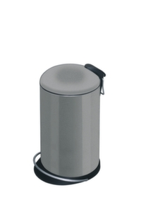 Tret-Abfalleimer,16l,HxD 460x260mm,Stahlblech,platin,Innenbehaelter Kunststoff
