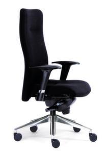 24-Stunden-Buerodrehstuhl,schwarz,Sitz HxBxT 420-540x470x420-470mm,Synchronmech.,m. Armlehnen