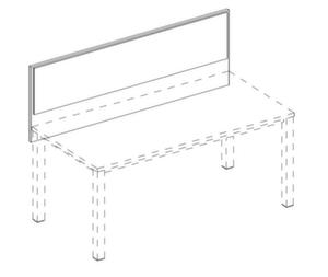 Trennwand,Frontelement,f. Schreibtisch,B 1800mm,Holz,Benutzerseite Stoff,NE-Ahorn,BN1005-beige